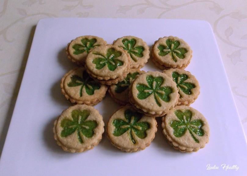 biscuits au trèfle fourrés confiture de kiwi2