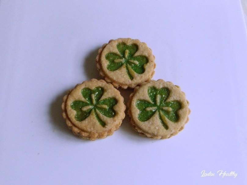 biscuits au trèfle fourrés confiture de kiwi3