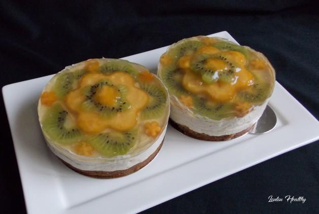 cheese cake noix de cajou, kaki et kiwi2