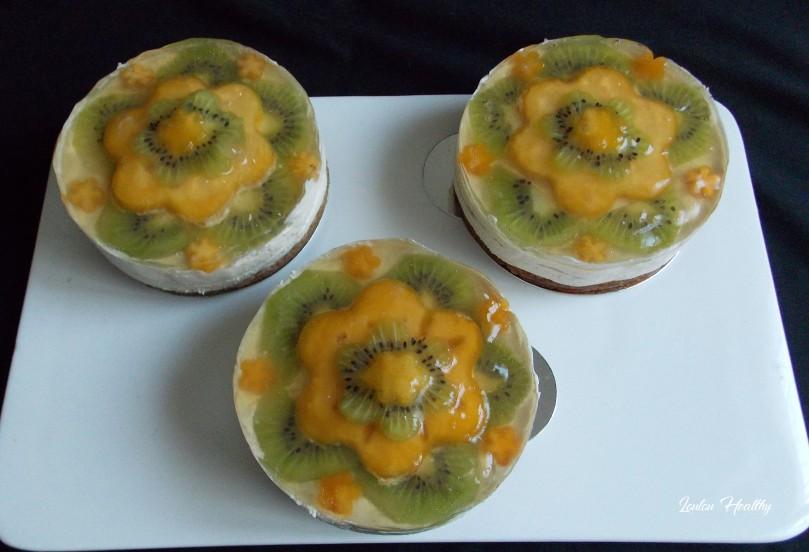 cheese cake noix de cajou, kaki et kiwi3