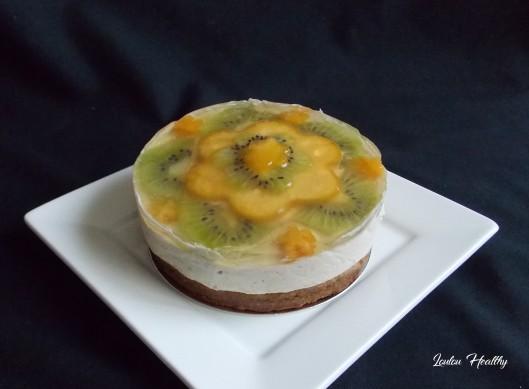 cheese cake noix de cajou, kaki et kiwi4