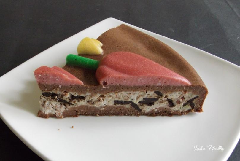 cheese cake tulipe au cacao fourré caroube, noix de pécan4