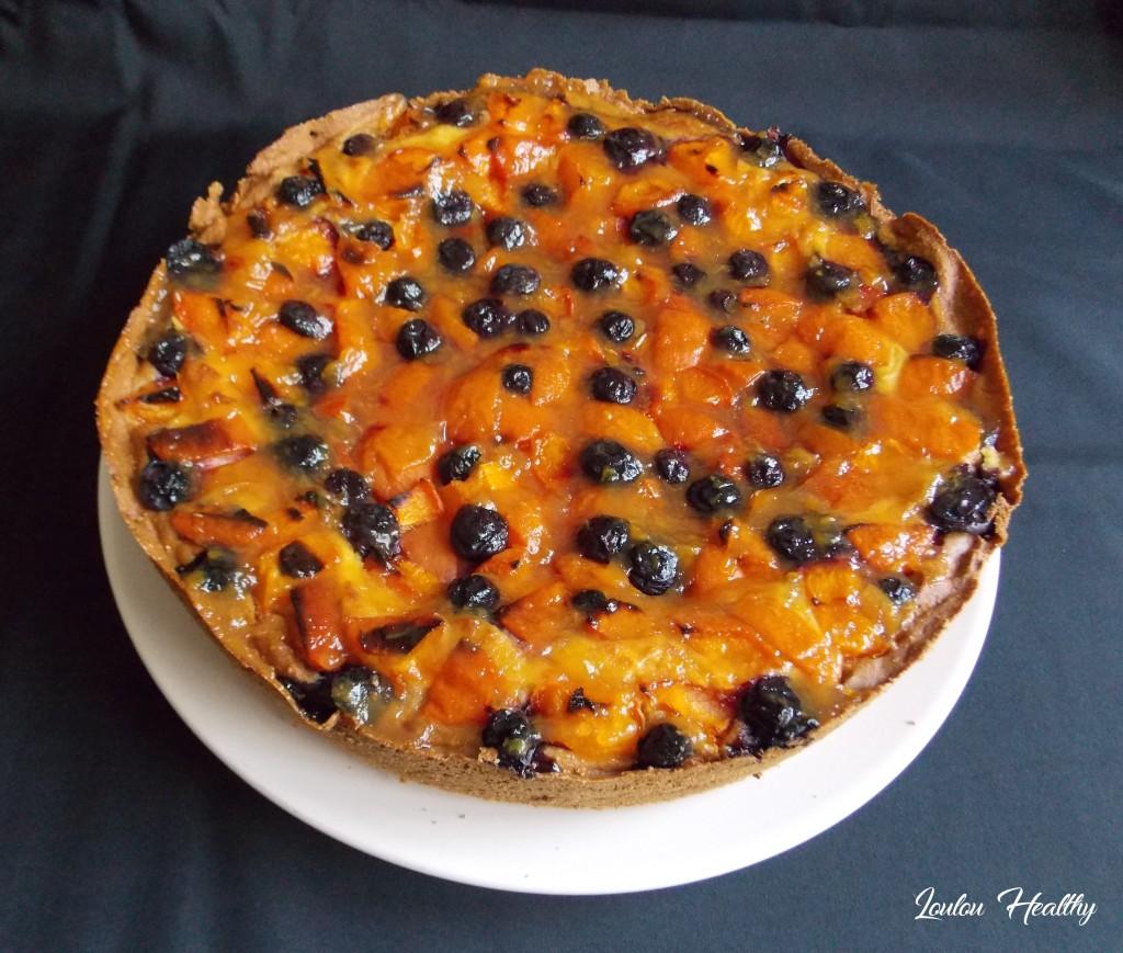 cake flan abricot myrtille3