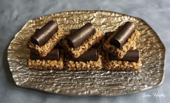 buchettes aux cacahuètes et chocolat