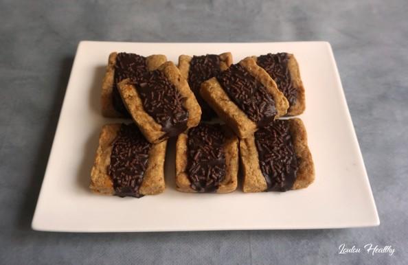biscuits au chocolat fourrés abricot