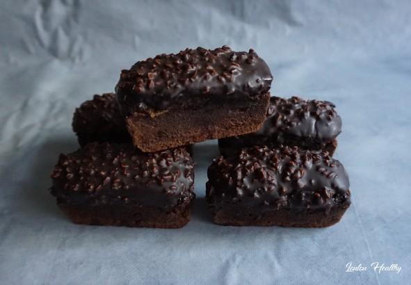 petits cakes chocolat fourrés peanut butter