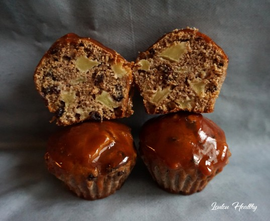 cakes speculoos, pommes, groseilles