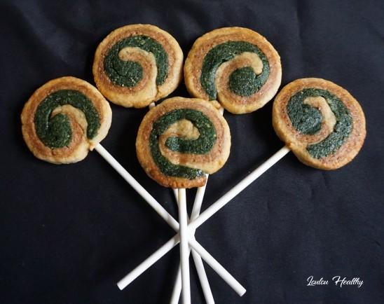 biscuits façon sucettes et cannes sucre d'orge fraise-pistache3