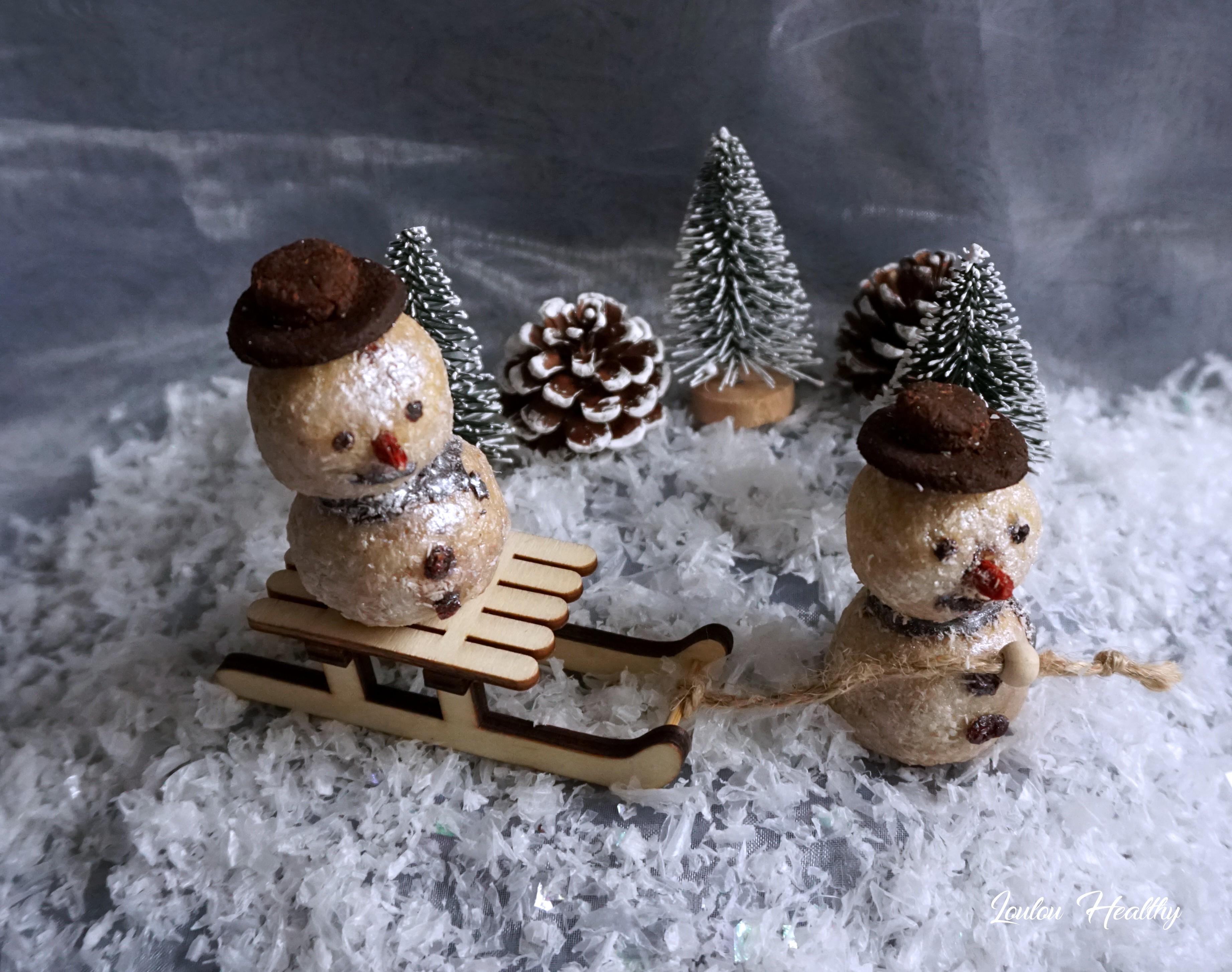 bonhommes de neige noix de coco abricots