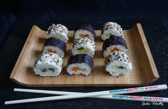 sushis rolls à la noix de coco et aux fruits exotiques3