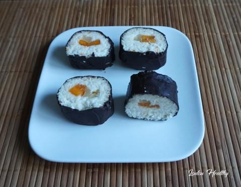 sushis rolls à la noix de coco et aux fruits exotiques4