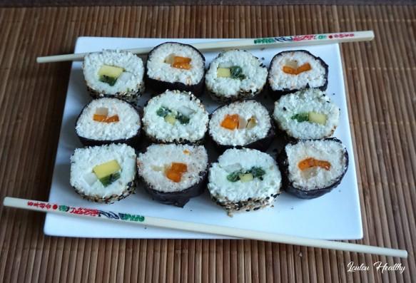 sushis rolls à la noix de coco et aux fruits exotiques6