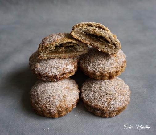 biscuits à la lentille verte fourré citron moringa