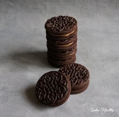 biscuits cacaotés fourrés chataigne