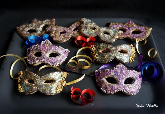 masques de carnaval noisette et chocolat