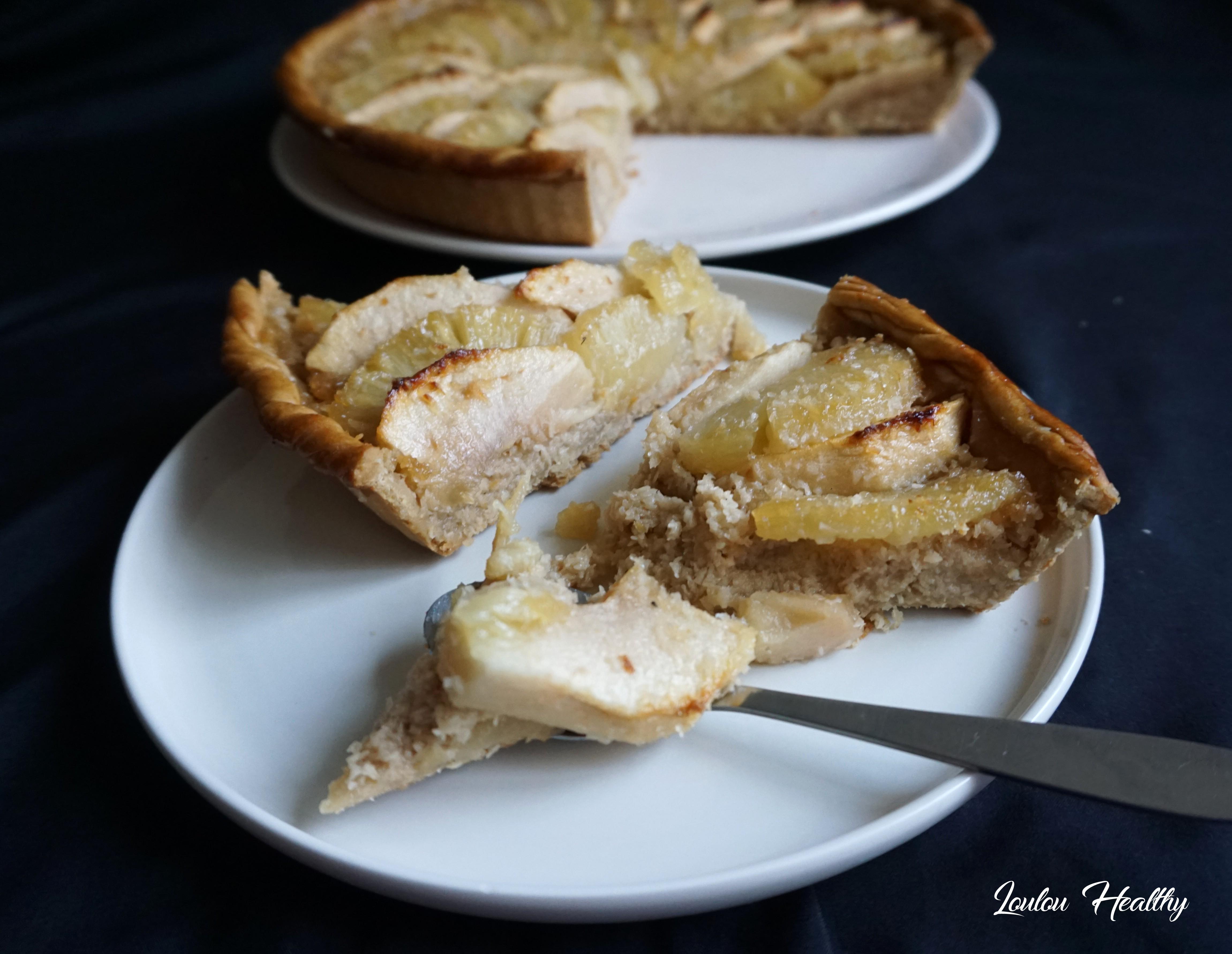 tarte pommes, ananas