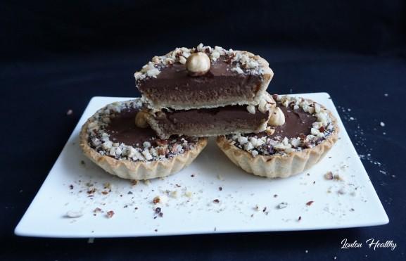 tartelettes poire, noisette et chocolat