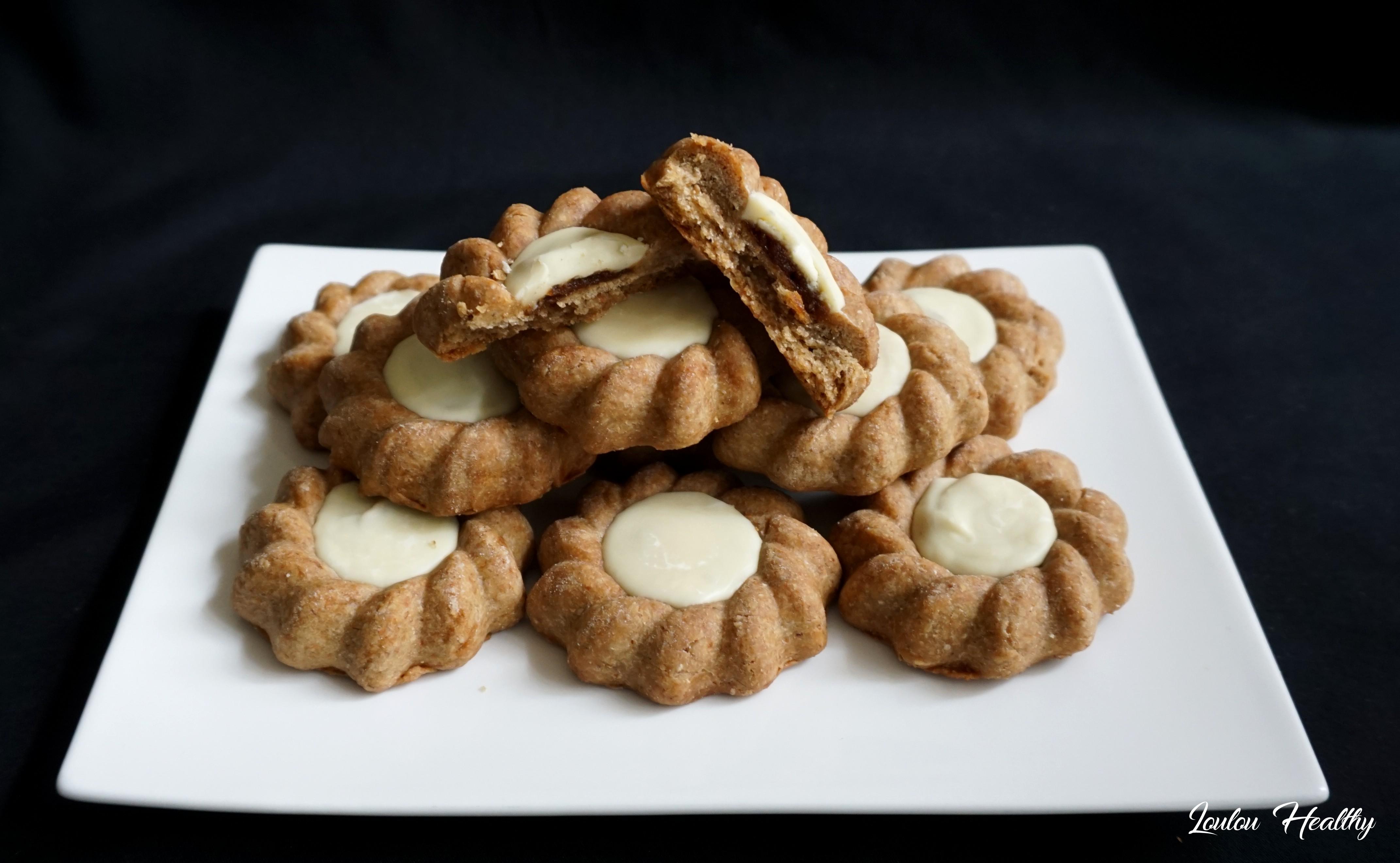 biscuits aux épices, caramel et chocolat blanc