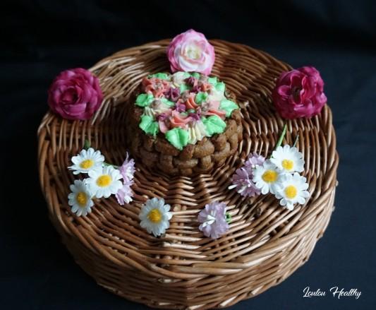 paniers fleuris
