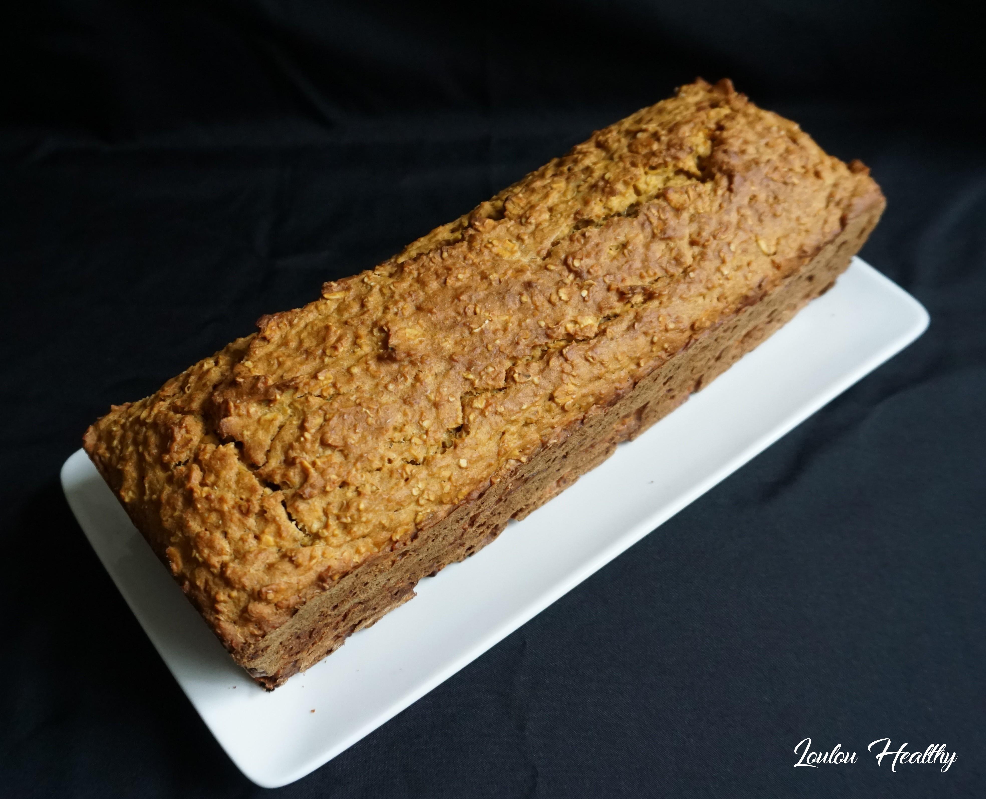 cake à la patate douce, céréales et citron