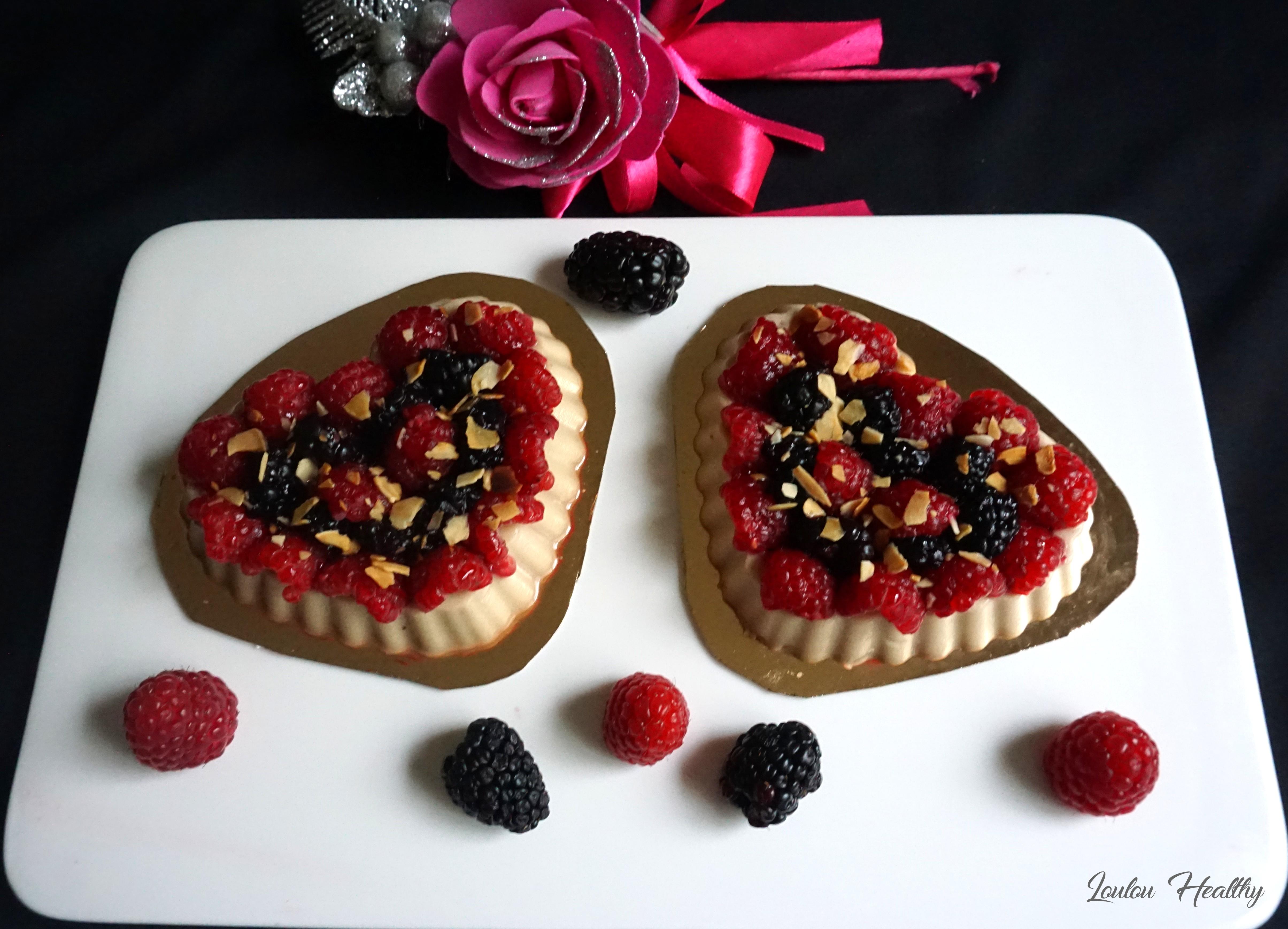 tartelettes flan amande et fruits rouges3