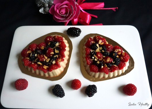 tartelettes flan amande et fruits rouges3