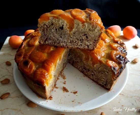 cake aux abricot, amandes et noisettes
