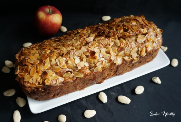 cake à la semoule, pommes et amande2