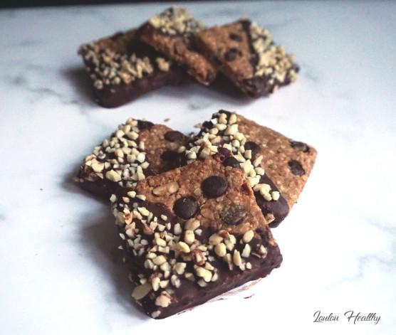 carrés aux céréales, noisette et chocolat4