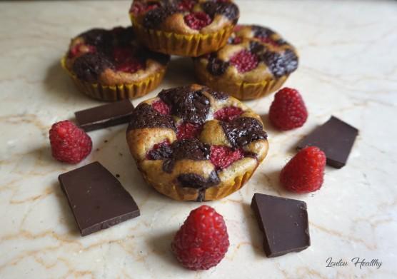 petits cakes pistache, framboise et chocolat