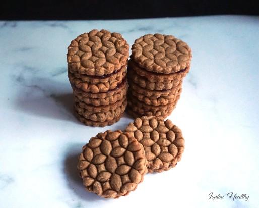 biscuits aux amandes fourrés confiture3