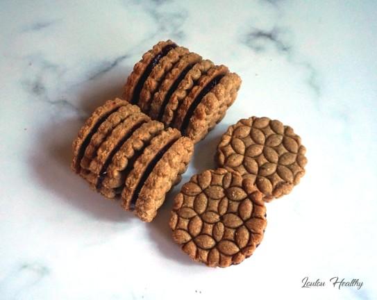 biscuits aux amandes fourrés confiture4