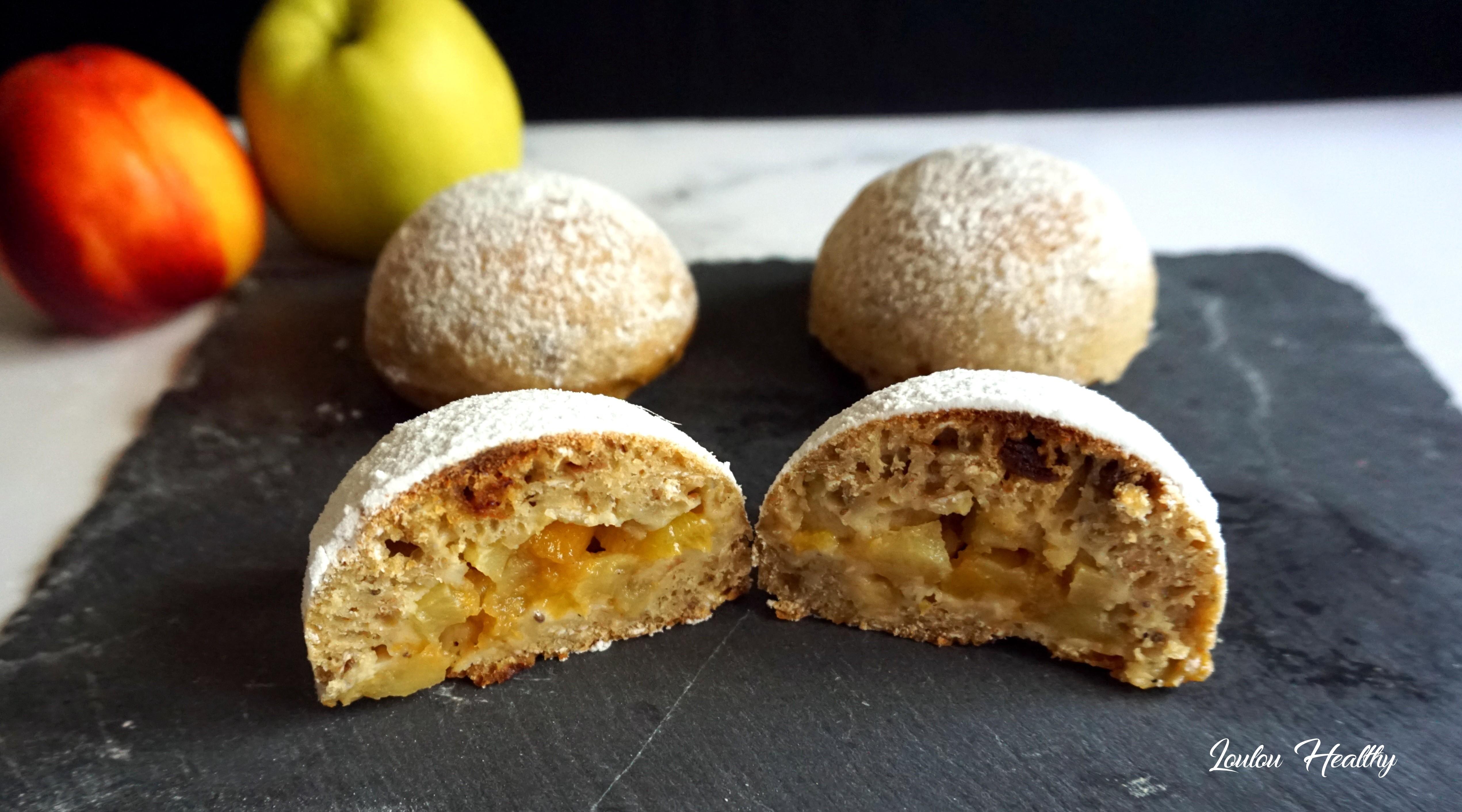 cakes dôme pomme-nectarine