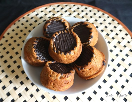 petits cakes aux raisins secs, caramel fleur de sel à la vanille et chocolat2