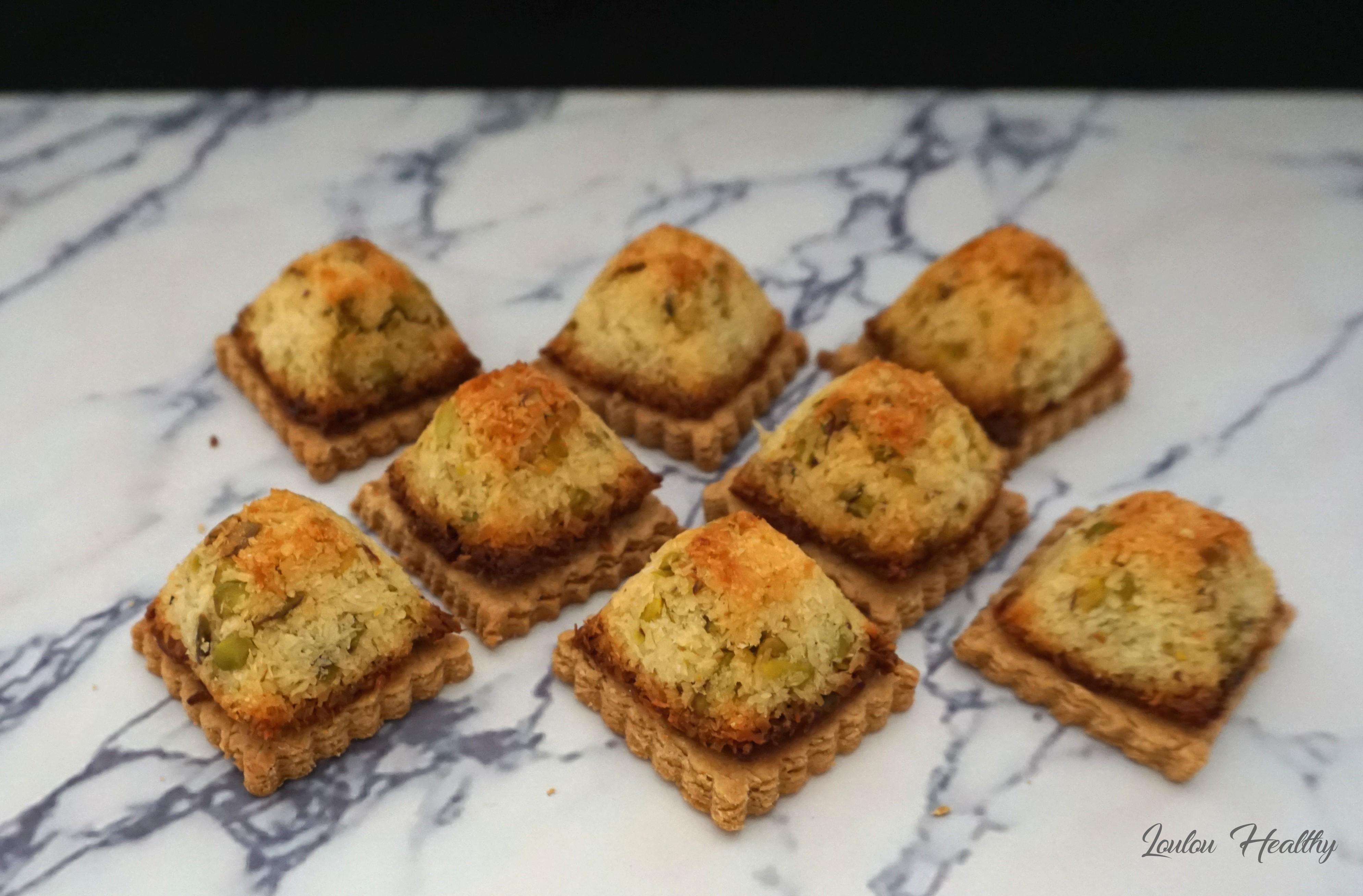 rochers à la noix de coco sur biscuits4