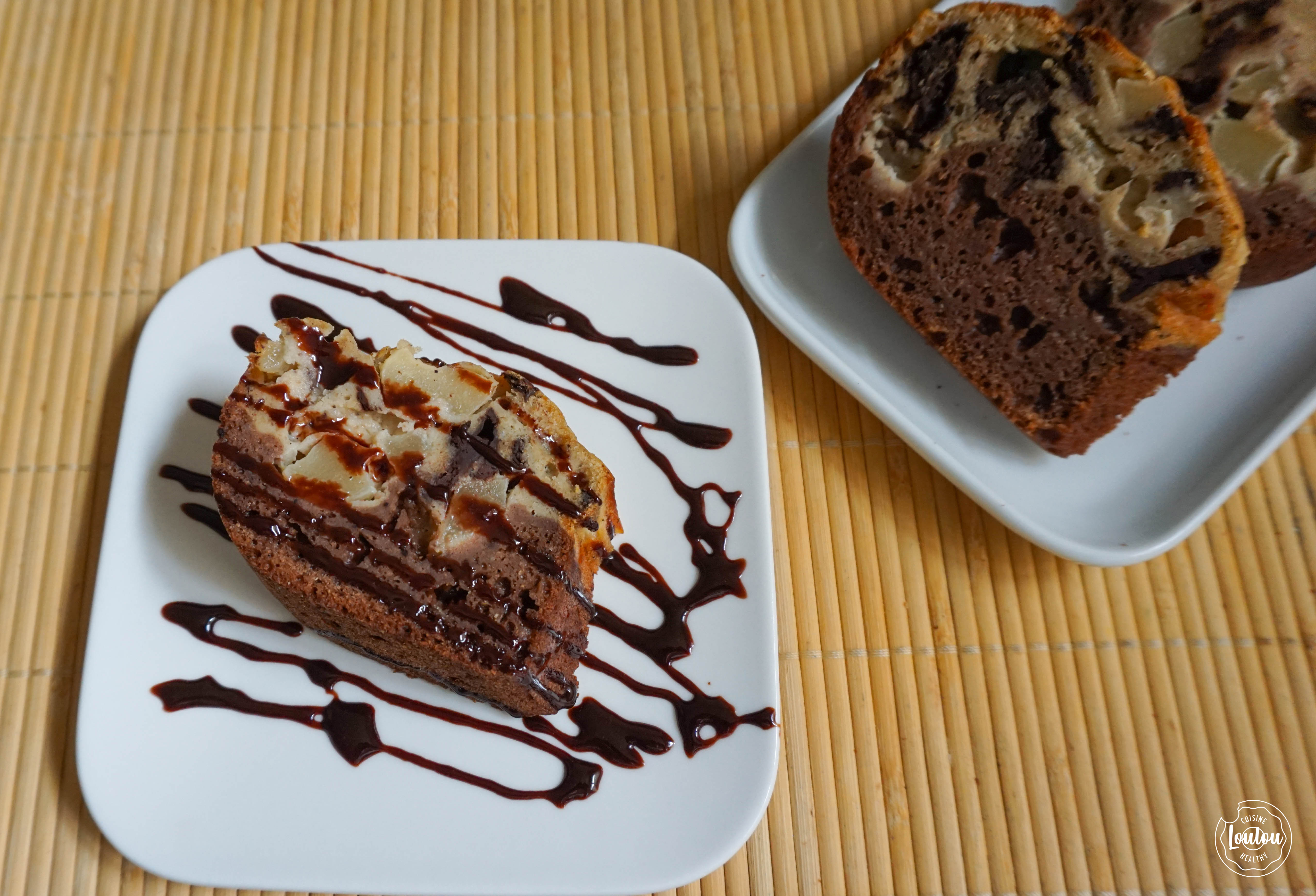 Cake poire & choco 3 blog