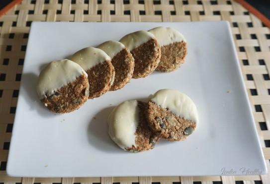 palets aux céréales, graines de courge et chocolat blanc3
