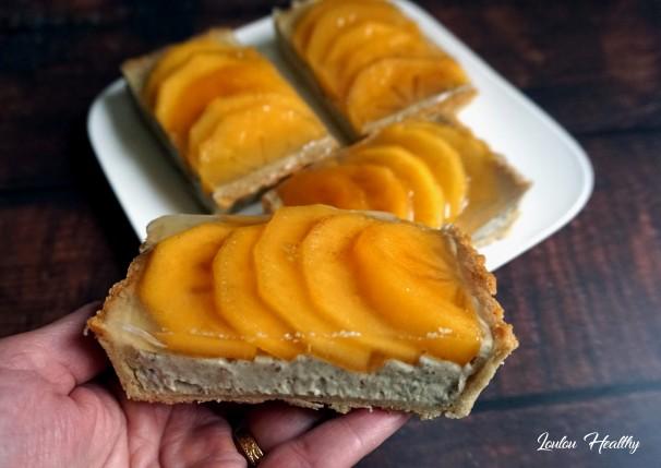 tartelettes aux kakis et crème fruits et graines