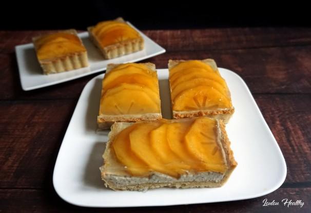 tartelettes aux kakis et crème fruits et graines3