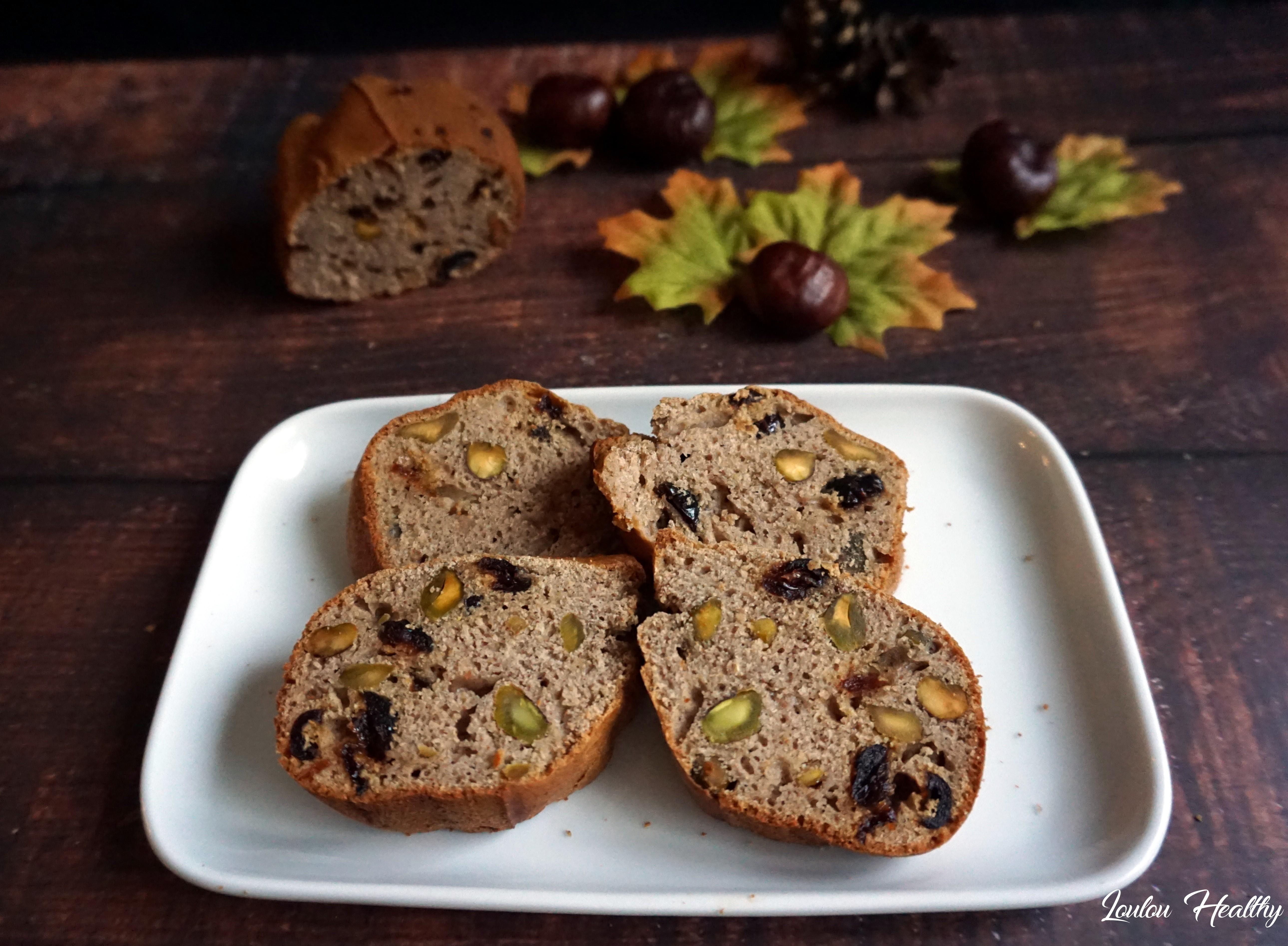 cake à la chataigne, pistache et cranberries5