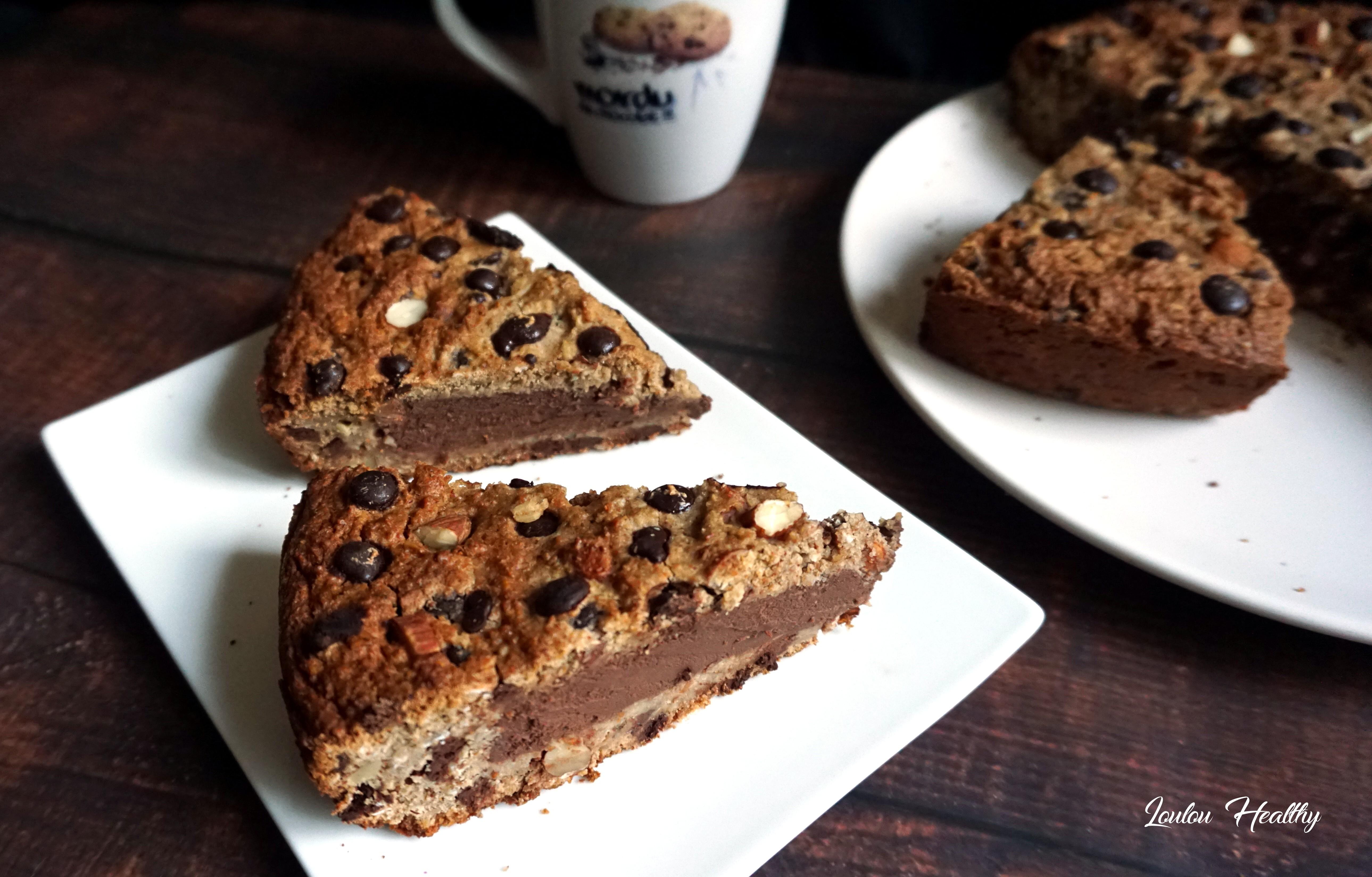 brookie avoine fourré chocolat- patate douce4