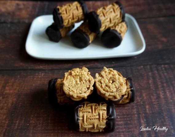 rouleaux aux cacahuètes et chocolat