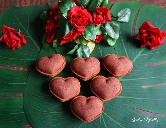 macarons coeurs roses2