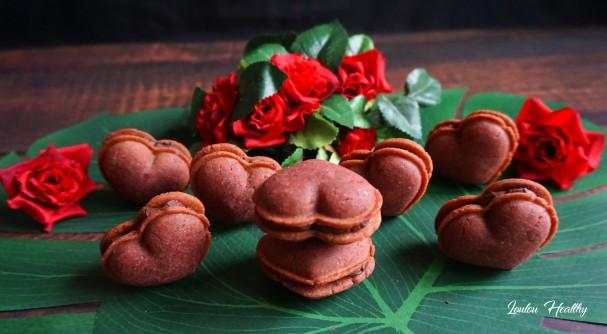 macarons coeurs roses4