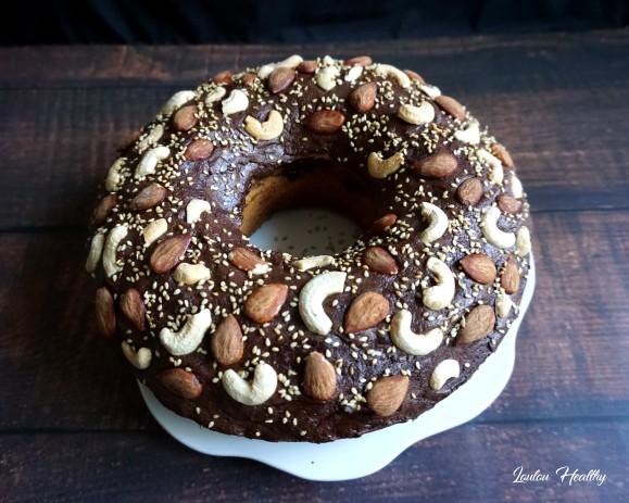 cake sésame, amande, cajou, chocolat2