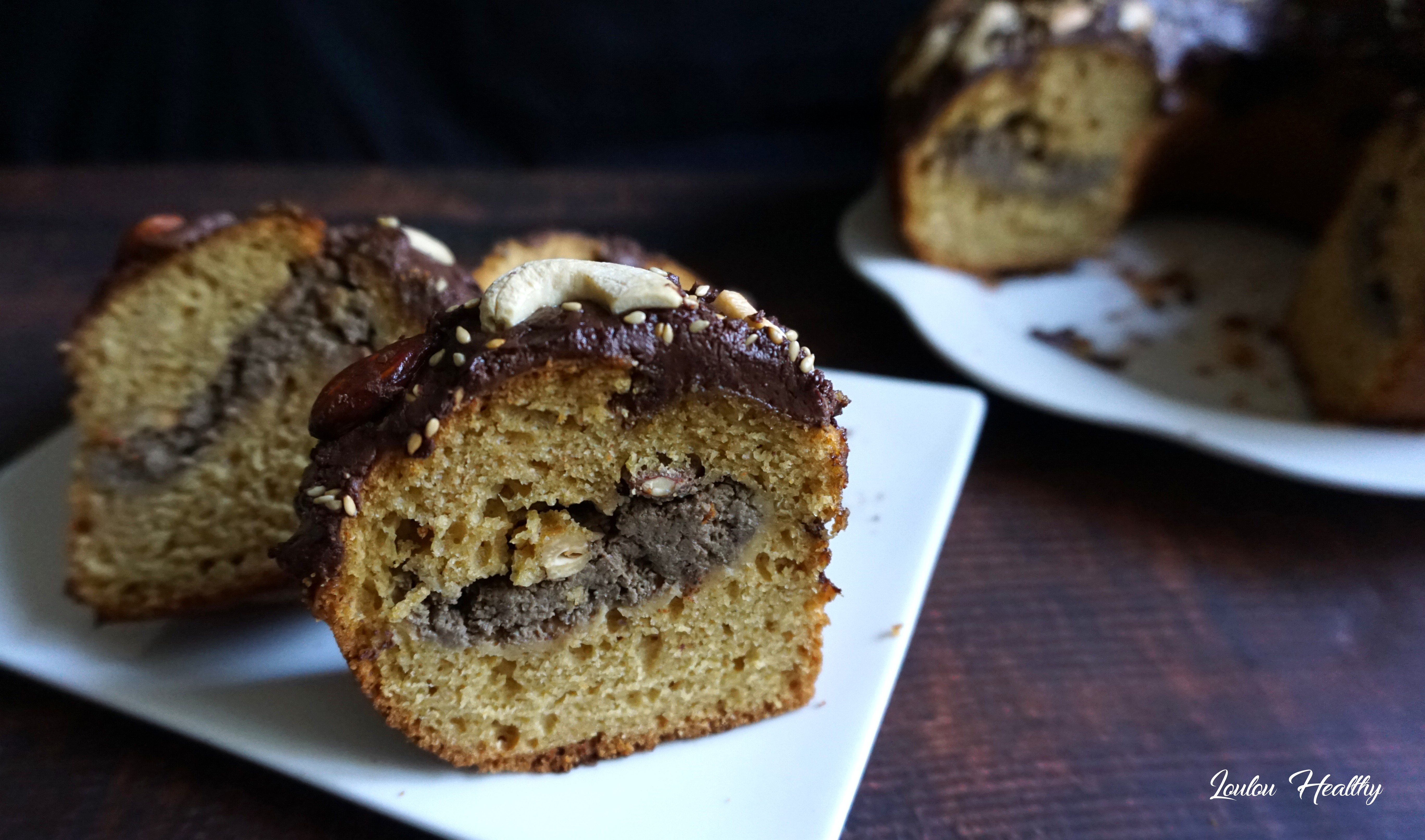 cake sésame, amande, cajou, chocolat3