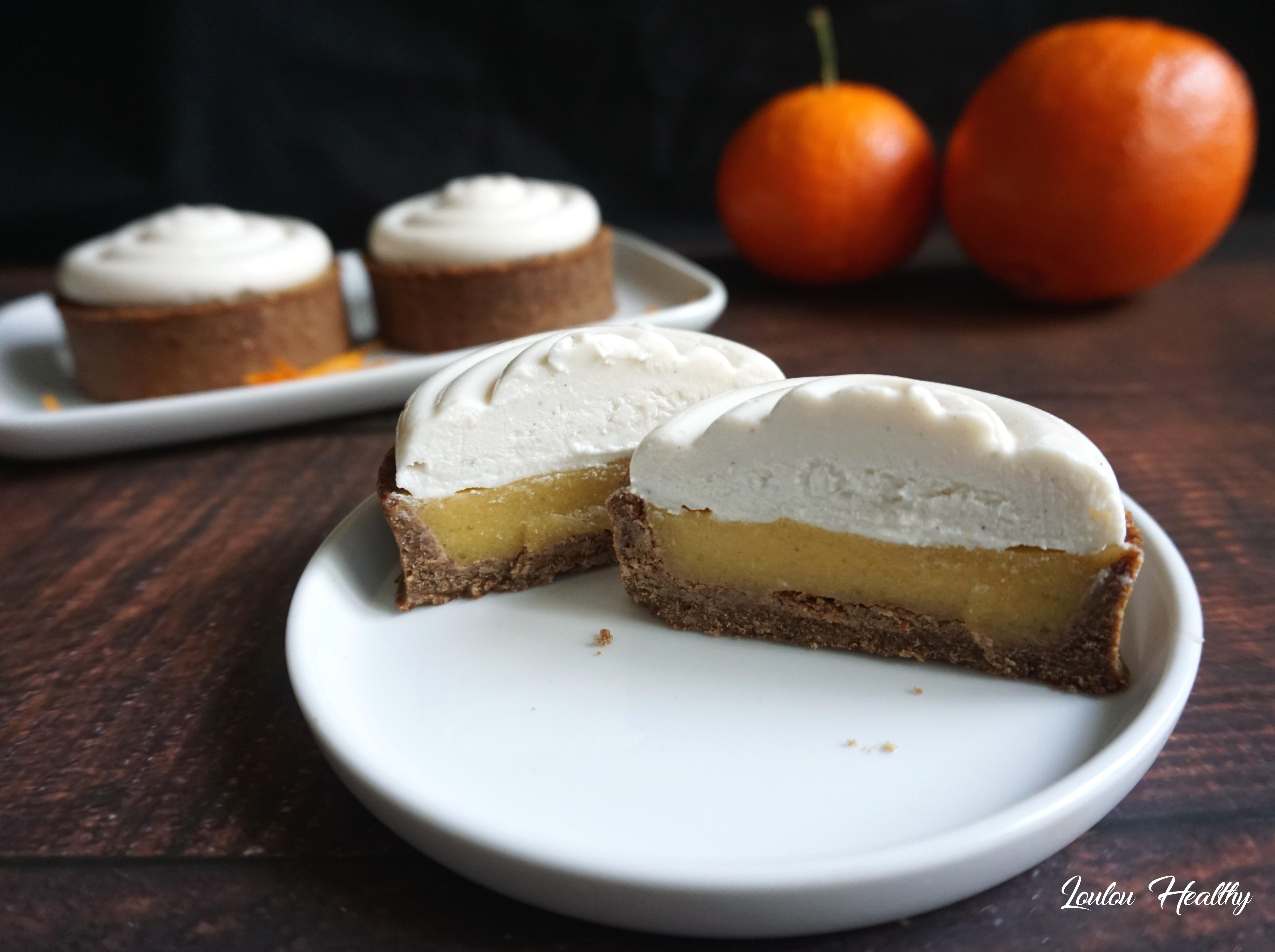 tartelettes orange, clémentine et crème coco