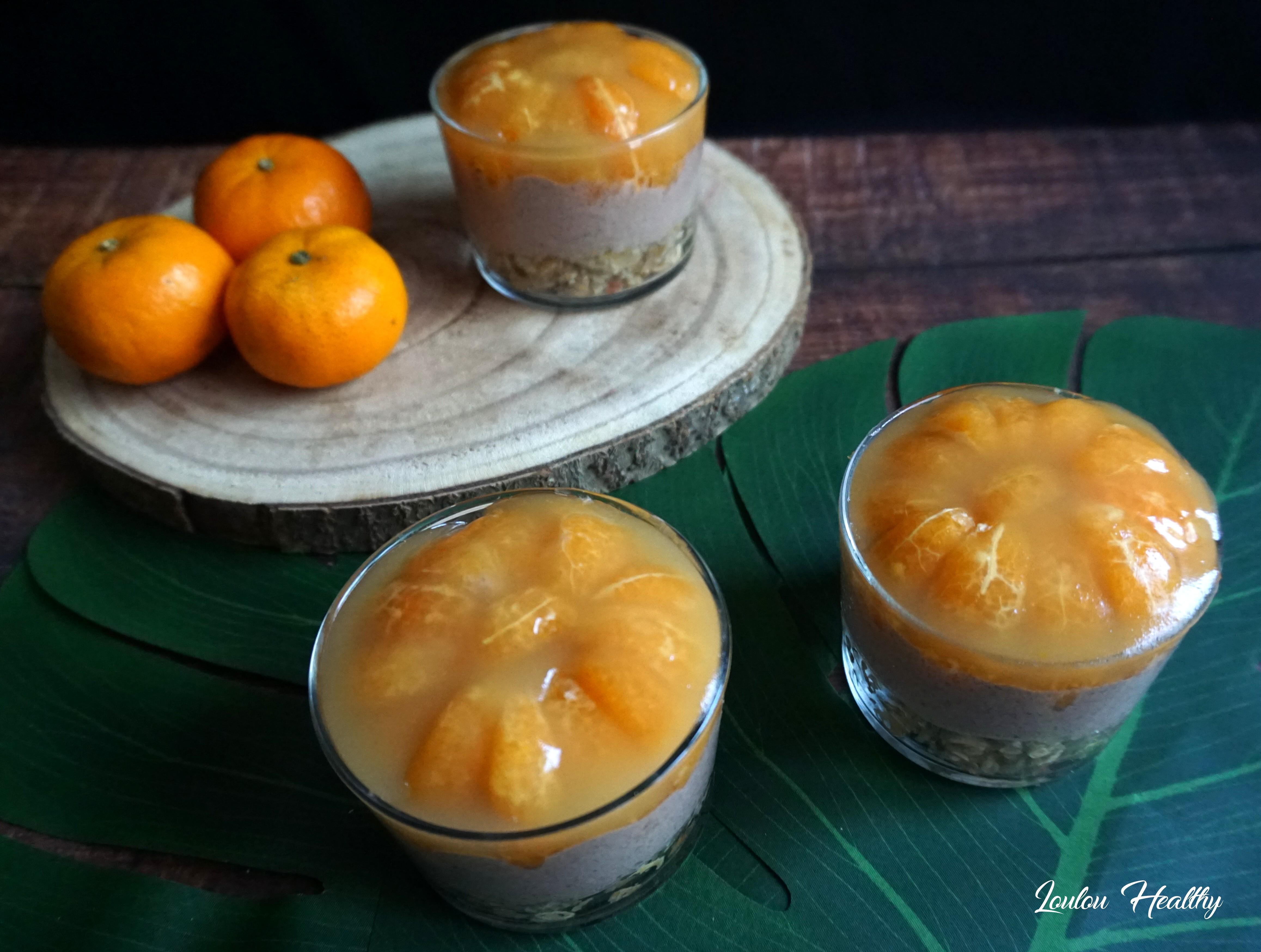 cheesecake chocolat, mandarine en verrines2