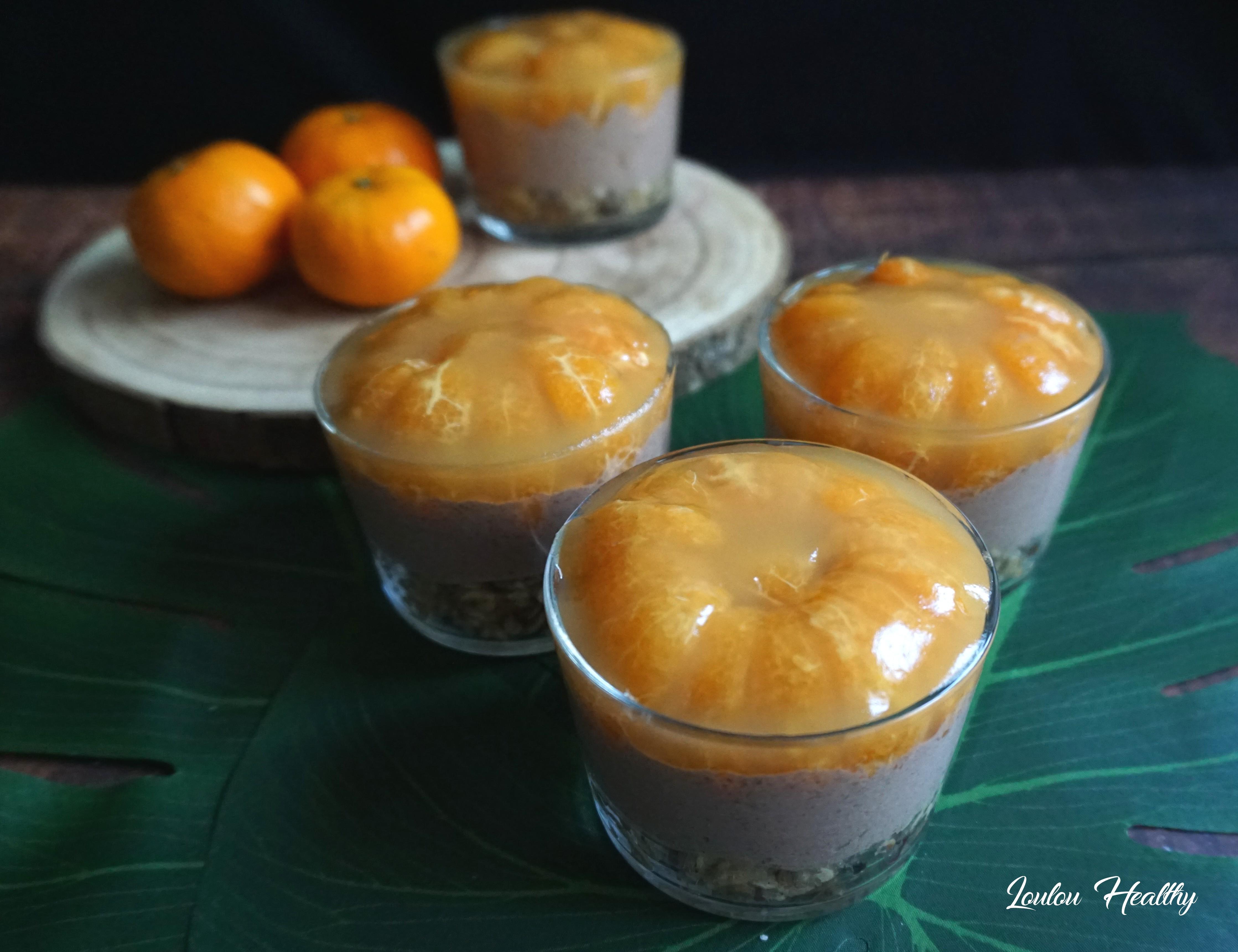 cheesecake chocolat, mandarine en verrines4