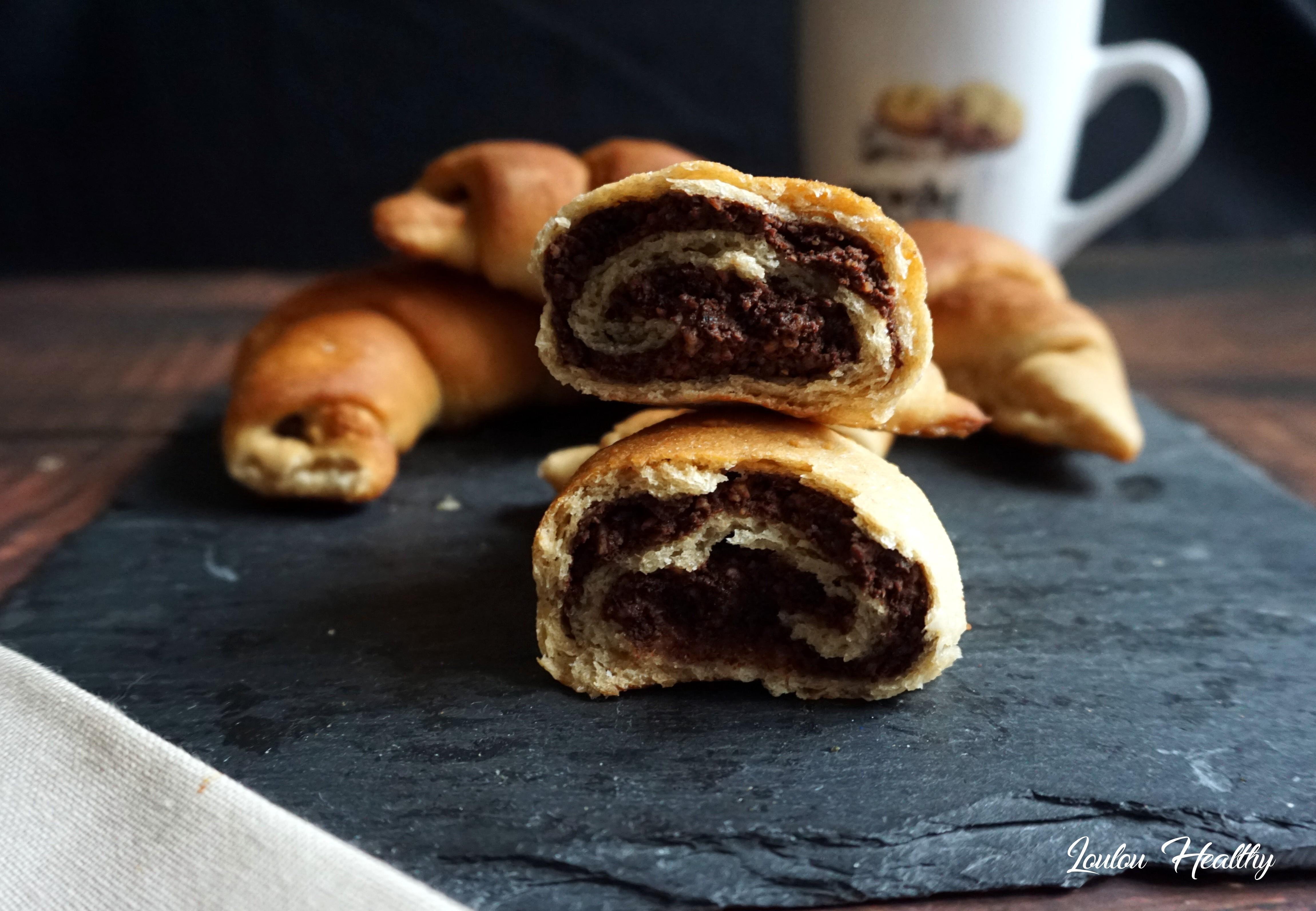croissants briochés compote et cacao